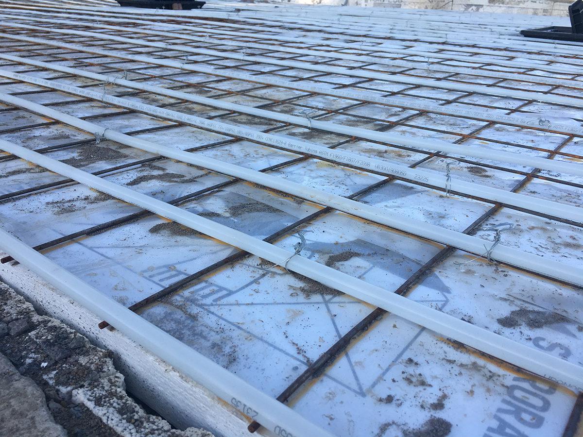 New, slab on grade home construction