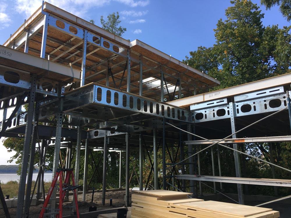 Steel framed house